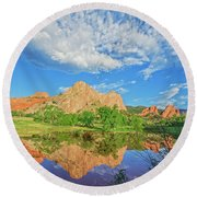 Impossible Not To Fall In Love With Colorado. Here's Why.  Round Beach Towel by Bijan Pirnia