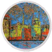 Impression - Irving Mill Round Beach Towel