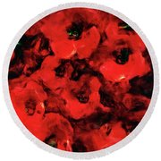 Impression Of Poppies Round Beach Towel