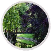 Round Beach Towel featuring the photograph Impressionist Reminiscence  by Ana Mireles