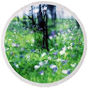 Impressionistic Photography At Meggido 1 Round Beach Towel