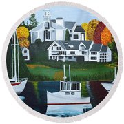Impressions Of New England Two Round Beach Towel