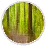 Impressions Of The Forest Round Beach Towel