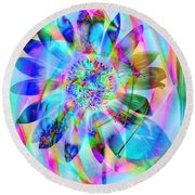 In A Different Light Round Beach Towel
