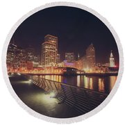 Round Beach Towel featuring the photograph In A Heartbeat by Laurie Search