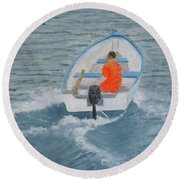 In A Hurry Round Beach Towel