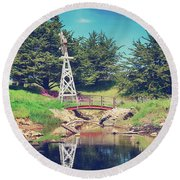 In A Perfect World Round Beach Towel by Laurie Search