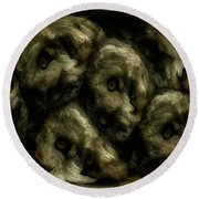 In A Swedish Troll Forest Round Beach Towel by Gun Legler