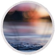 Round Beach Towel featuring the photograph In-between Days by Laura Fasulo