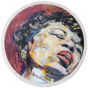 In Between The Devil And The Deep Blue Sea Round Beach Towel