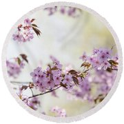 Round Beach Towel featuring the photograph In Bloom. Spring Watercolors by Jenny Rainbow