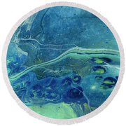In Depths Unknown Round Beach Towel