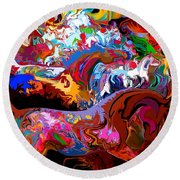 Round Beach Towel featuring the digital art In Dreams by Loxi Sibley