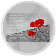 In Flanders Fields Round Beach Towel