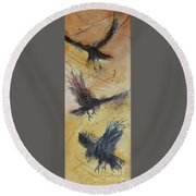 In Flight Round Beach Towel by Ron Stephens