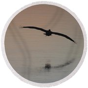 In For The Kill Round Beach Towel by Nance Larson