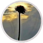 In Heaven's Light Round Beach Towel by Maria Urso