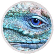 In His Eye Round Beach Towel by Iryna Goodall