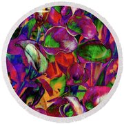 In Living Color Round Beach Towel