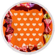 In Love Of Fashion Styling Round Beach Towel