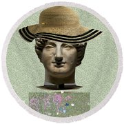 In Memory Of Beautiful Women Ever Lived Round Beach Towel