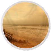 In My Dreams The Ocean Sings - Jersey Shore Round Beach Towel