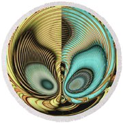 In My Head Round Beach Towel by Wendy J St Christopher
