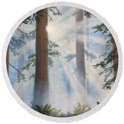 In Paradisum II Round Beach Towel