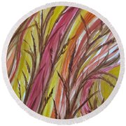 In Rushes Fall Round Beach Towel by Sharyn Winters