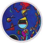 In Search Of Trilateration Round Beach Towel