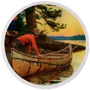 In Silent Places Round Beach Towel