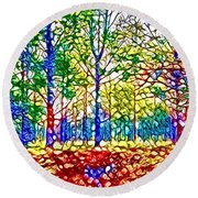 In Spite Off The Trees Round Beach Towel