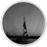 Round Beach Towel featuring the photograph In Tatters by Marie Neder