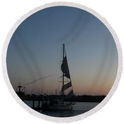 Round Beach Towel featuring the photograph In Tatters Original by Marie Neder