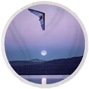 In The Air Tonight Round Beach Towel