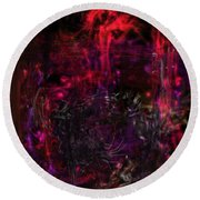 Round Beach Towel featuring the digital art In The Ancients Chambers by Reed Novotny