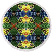 Round Beach Towel featuring the digital art In The Bag by Wendy Wilton