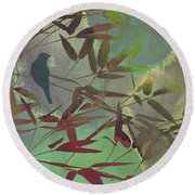In The Bamboo Forest Round Beach Towel