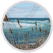 In The Breeze Round Beach Towel