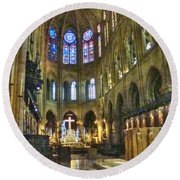 In The Cathedral Round Beach Towel