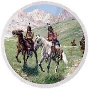 In The Cheyenne Country Round Beach Towel