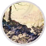 In The Distance Round Beach Towel by Carolyn Rosenberger
