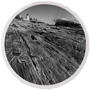 In The Distance Round Beach Towel by David Cote