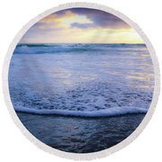 In The Evening Round Beach Towel