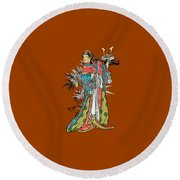 In The Garden. Round Beach Towel