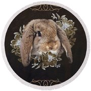 In The Garden Of Whispers Round Beach Towel