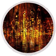 In The Heat Of The Night Round Beach Towel