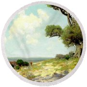 In The Hills Of Southwest Texas 1912 Round Beach Towel