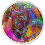 Round Beach Towel featuring the mixed media In The Light by Kevin Caudill