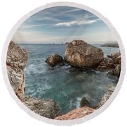 In The Middle Of The Rocks Round Beach Towel